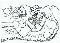 Klein Duimpje kleurplaat Princess Theme, Nursery School, Nursery Rhymes, Fairy Tail, Storytelling, Rapunzel, Coloring Pages, Doodles, Clip Art