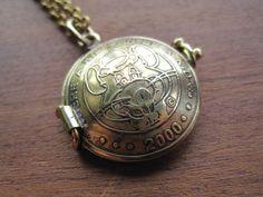 Vintage 2000 / 1983 Chuck E. Cheese Token Locket Necklace READY TO SHIP.. $57.00, via Etsy.