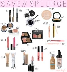 SAVE or SPLURGE | Makeup Edition Ultimate guide to high end makeup beauty dupes found at the drugstore!