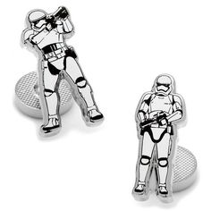 Cufflinks Stormtrooper Action Cufflinks ($55) ❤ liked on Polyvore featuring men's fashion, men's accessories, cuff links and white