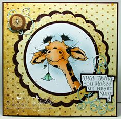 One Stamping Fool: Hello Baby Giraffe  A Day for Daisies
