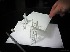 Anamorphic 3D Pencil Drawing by Alessandro Diddi