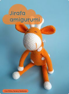 Jirafa amigurumi naranja