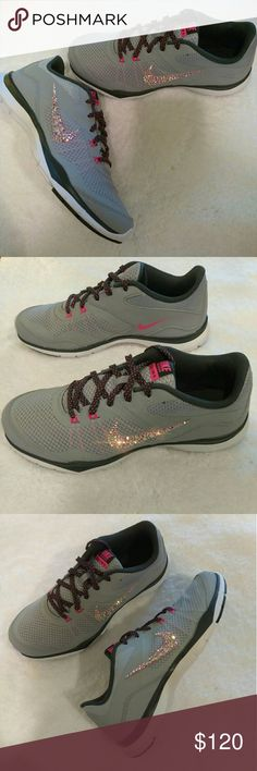 Swarovski Nike Bling Flex Trainers Shoes Brand New Swarovski Nike Bling Flex Trainers in size 7.5. Brand New never been worn in box. Nike Shoes Sneakers