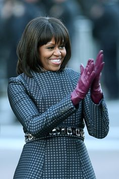 Michelle Obama: The first lady's hair was thrust into the limelight during her husband's inauguration and for good reason. Her piecey cut is a flattering complement to a chin-length bob.
