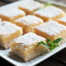 Ma recette du jour : Carrés au citron sur Good-recettes.com