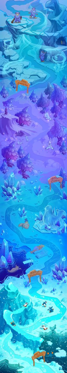 IceWorld map on Behance