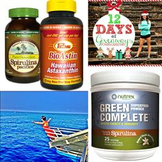 Day 6 of the 12 days of giveaway series I gave to you - @SuperNutrient giveaway! #spirulina