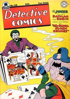 Detective Comics 118 - It looks like the Joker has the deck stacked against Batman & Robin! Robin Comics, Dc Comics Art, Batman Comic Books, Comic Book Characters, Comic Books Art, Comic Art, Book Art, Batman Detective Comics, Batman Comics