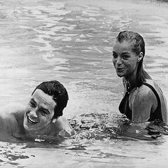 #romyschneider #alaindelon #LaPiscine #set #moovie #movie #cinema #actors #french #blackandwhite #perfect #lovely #love #forever #iconic #inspiration #icônes #icons #1968 #60s #mythique