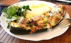 Plnená cuketa - Recept Zucchini, Low Carb, Vegetables, Food, Essen, Vegetable Recipes, Meals, Yemek, Veggies