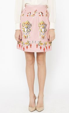 Oscar de la Renta Pink And Multicolor Skirt