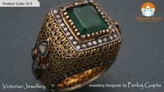 Victorian Ring from Tibarumal Jewels designed by Pankaj Gupta; highly detailed in symmetry and exquisitely etched with artistry; the perfect adornment for your fingers!