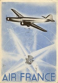 Air France poster from the 1940s