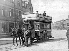 A horsedrawn tram outside the Farmyard Hotel on Rochdale Road in Blackley in 1898 People Photography, Vintage Photography, Old Photos, Vintage Photos, North Manchester, Queen's Coronation, Old M, Rochdale, Light Rail