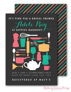 Around The House/Stock the Kitchen Bridal Shower Invitation