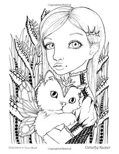 INKLINGS Colouring Book By Tanya Bond Coloring For Adults Children Featuring 24 Single Sided Fantasy Art Illustrations
