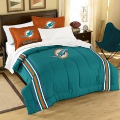 Miami Dolphins Nfl 3 Pc Comforter Set