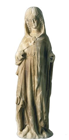 Virgin Museu Nacional d'Art de Catalunya Mid-14th century 82.8 x 24.3 x 23 cm Former Museum Collections Inventory number: 015873-000 May have formed part of a sculptural group of the Annunciation. Provenance unknown. Carved alabaster