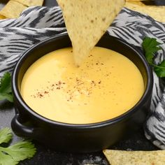 Make smooth and creamy nacho cheese sauce in 5 minutes, using real cheese and milk! Perfect for dipping or drizzling over chips, nachos, burritos, and more. The post 5 Minute Nacho Cheese Sauce appeared first on Food Monster. Cheese Recipes, Appetizer Recipes, Cooking Recipes, Pretzel Dip Recipes, Indian Appetizers, Cooking Rice, Skillet Recipes, Cooking Gadgets, Party Appetizers