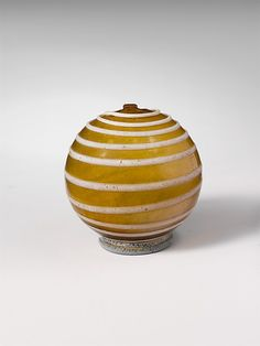 Glass spherical bottle Early 1st century A.D. Roman