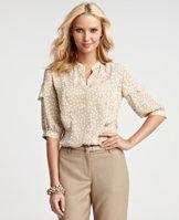 Falling Dots 3/4 Sleeve blouse