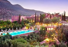 Talk about glamorous. Sir Richard Branson's place in Morocco.