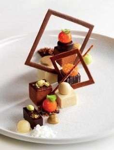 Panacotta, nougat, mousse and cream. Van Damme- Made by Chef Roger van Damme.