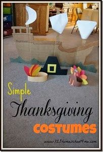 Simple Thankgiving Costumes and Skit