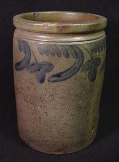 Antique Miler &  Davison Virginia Stoneware Jar