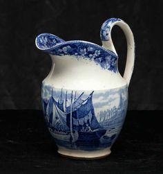 English tea set - blue vintage - creamer jug