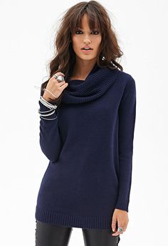 Ribbed Cowl Neck Sweater | FOREVER 21 - 2000059006