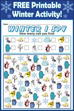 Free Printable Winter I Spy Counting Activity