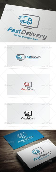 Fast Delivery - Logo Design Template Vector #logotype Download it here: http://graphicriver.net/item/fast-delivery/7784386?s_rank=807?ref=nexion