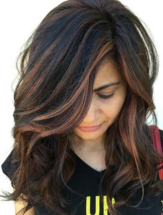 How To Pick The Right Hair Color For Your Skin Tone intended for highlights for indian hair- Hair Highlights For Girl Hair Color Highlights, Ombre Hair Color, Hair Color For Black Hair, Hair Color Balayage, Cool Hair Color, Brown Hair Colors, Blonde Balayage, Black Hair With Highlights Indian, Caramel Balayage