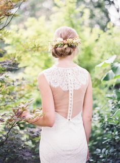 sheer lace illusion back