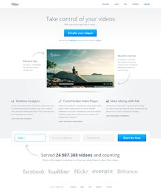 Video player landing page by Pawel Kadysz
