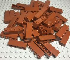 LEGO LOT OF 50 NEW REDDISH BROWN 2 X 3 DOT PLATES BUILDING BLOCKS PIECES