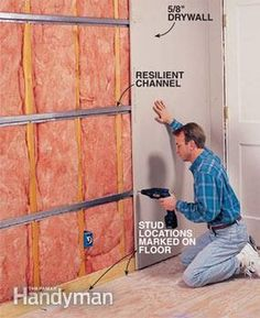 Finish soundproofing the walls by attaching the drywall.