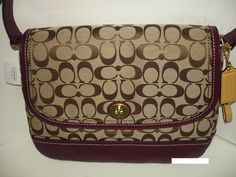 'Coach Park Signature Flap ' is going up for auction at  5pm Mon, Dec 2 with a starting bid of $125.