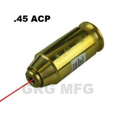 ".45ACP/.45 Cartidge Laser Bore Sighter by DYZ. $7.65. LED Type: Visible Red Laser. Sighting Range: 10-75 yards. Material: High Quality Brass. Dot Size: 1.5"" @ 100 yds. Laser Wavelength: 632-650 nm. Laser Beam:<5 mw  Batteries Included Battery Life When Continuous On:  1 1/2 to 2 Hour. Save 81%!"