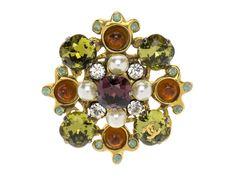 Chanel Vintage Crystal Brooch