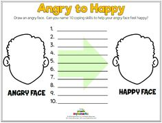 Anger Worksheets for Kids and Teens!