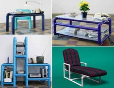Pvc Pipe Projects, Home Projects, Diy Home Furniture, Outdoor Furniture Sets, Canvas Wardrobe, Pipe Decor, Idee Diy, Cafe Design, Creative Home