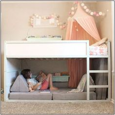 Babyzimmer Einrichten 30 Cozy Reading Room For Your Interior Home Design Though having extra space i Bed For Girls Room, Teen Girl Bedrooms, Big Girl Rooms, Ikea Girls Bedroom, Baby Bedroom, Little Girl Beds, Twin Bed For Girls, Paint For Girls Room, Girls Bed With Storage