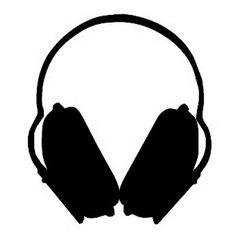 schwarze grosse Kopfhörer