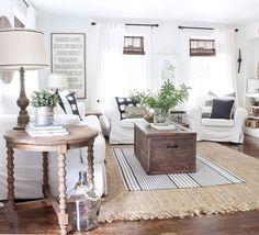 Narrow Living Room, Coastal Living Rooms, Chic Living Room, Living Room Furniture, Living Room Decor, Rustic Furniture, Dining Room, Small Living, Living Area