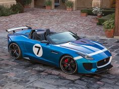 Jaguar's F-type two-seat sports car, called 'Project 7′.