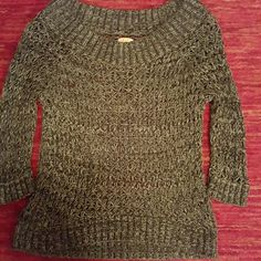 NWOT Mudd short sleeve sweater Very nice sweater, you will have to wear a tank under it. Mudd Sweaters Crew & Scoop Necks
