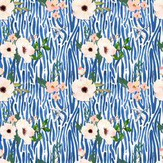 White Floral Shibori - Blue fabric by shopcabin on Spoonflower - custom fabric